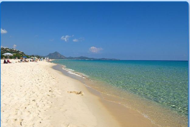 Playa del Poetto en Cagliari