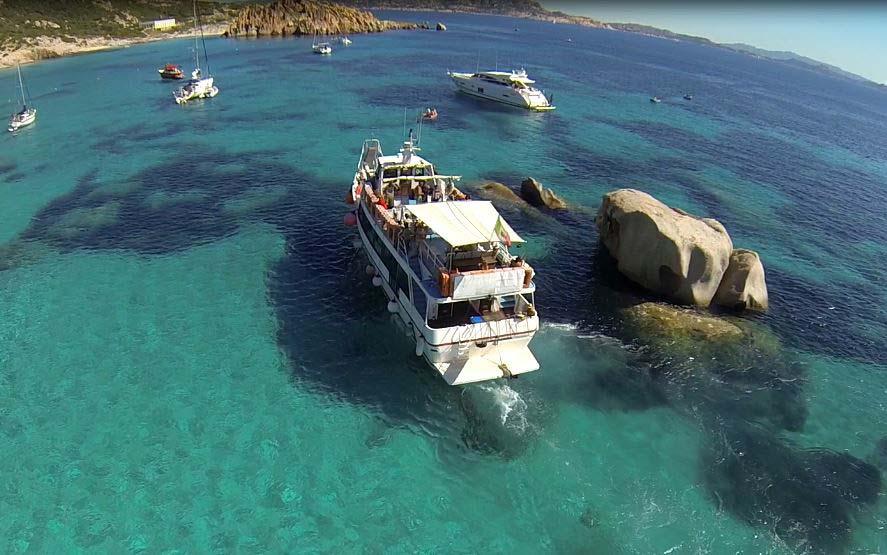 Excursión en barco a las islas de la Maddalena