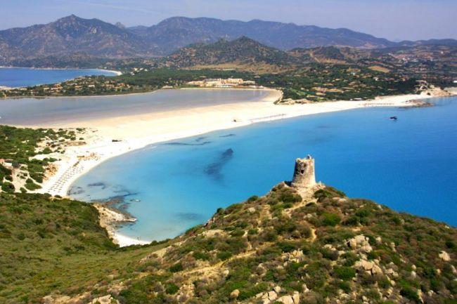 Cala Giunco, una de las playas del sur de Cerdeña
