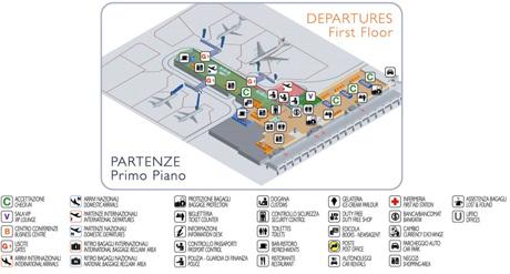 Aeropuerto de Cagliari. Salidas