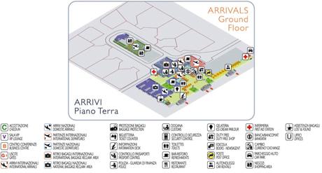 Planta llegadas del aeropuerto de Cagliari
