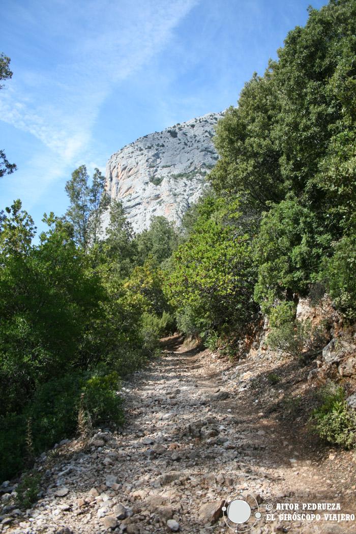 Camino hacia las gargantas del cañón de Gorropu