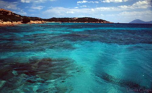 Aguas de la Costa Esmeralda de Cerdeña