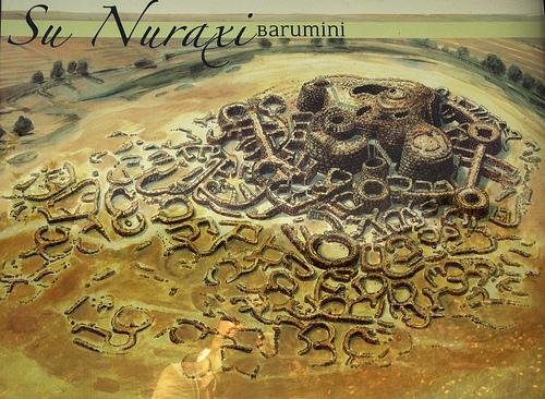 Dibujo del Nuraghi de Barumini