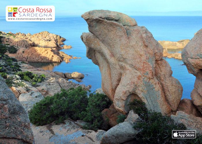 Formaciones de granito en la Costa Rossa