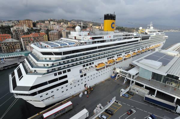 Crucero en el puerto de Olbia