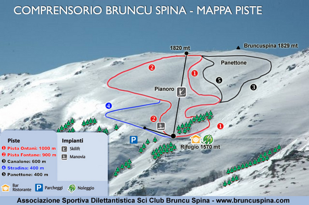 Estación  de esquí de Bruncu Spina