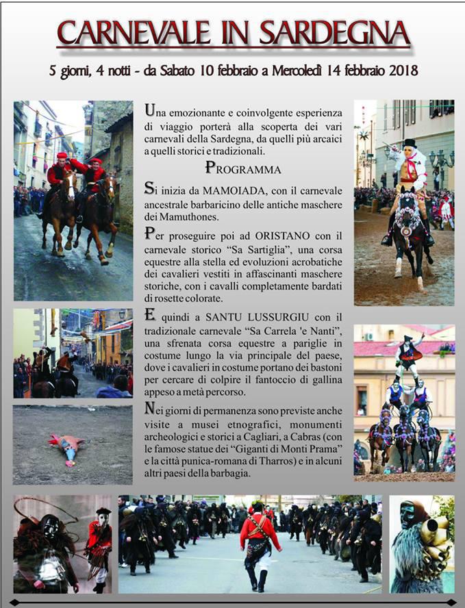 Viaje programado a los Carnavales de Cerdeña
