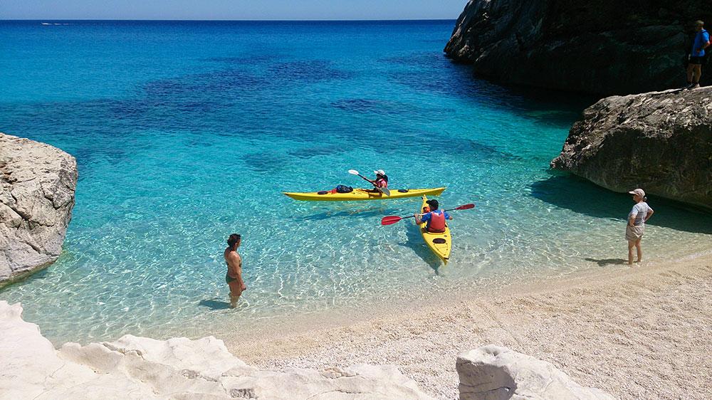 Kayak desde Cala Gonone