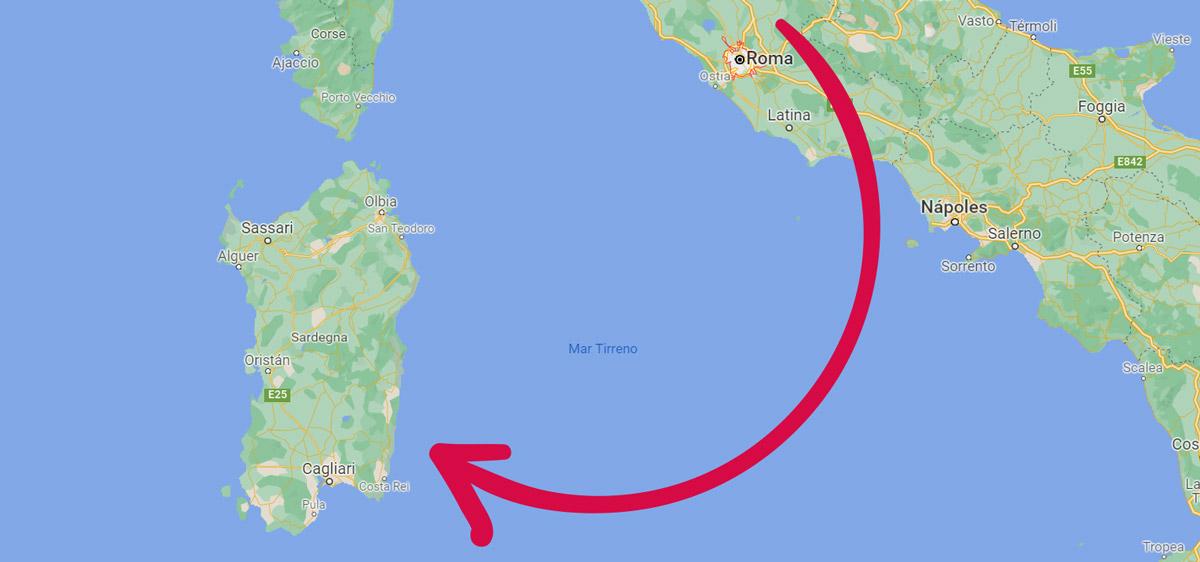 Opciones para llegar a Cerdeña desde Roma